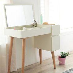 Dressing Table Goals, Bedroom Dressing Table, Dressing Table Design, Small Bedroom Vanity, Small Vanity, Diy Room Decor, Bedroom Decor, Home Decor, Dusty Pink Bedroom