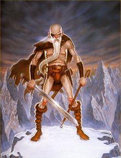 Cohen the Barbarian from Terry Pratchett's Discworld series--HA!