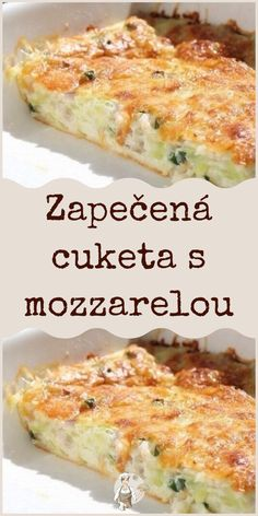Zapečená cuketa s mozzarelou Healthy Breakfast On The Go, Good Food, Yummy Food, Cooking Recipes, Healthy Recipes, Food Platters, Vegetable Recipes, Meal Prep, Food To Make
