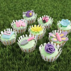 Give Mom an array of colorful garden-themed cupcakes to celebrate her special day.