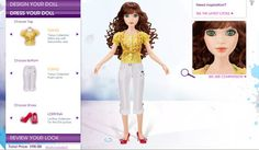 "Lorifina - Hasbro's Design Your Own Fashion Doll. From the now-defunct www.lorifina.com website: Girls can shop for clothing, shoes, handbags and other accessories like sunglasses. Users can review a look they've created on the spot and save fashions and accessories combinations in their Look Book. They can also create Wish Lists – or what we call a subtle hint to mom and dad. Girls can also decorate their own ""studio space"" and learn about fashion facts, vocabulary and tips"