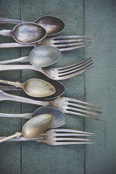 vintage cutlery silv