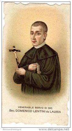 """Illustration of Venerable Domenico Lentini from Lauria (Publisher """"S. Lega Eucaristica"""")"""