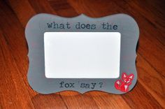 Rustic  Shabby Chic Fox Picture Frame by OhSoFooFoo on Etsy, $16.00