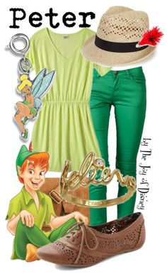 Peter Pan inspired outfit -- Great casual look for the Disney parks!