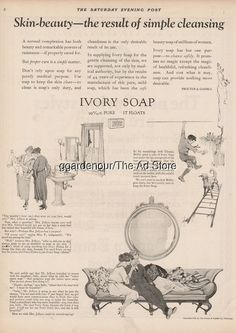 1923 Ivory Soap Skin Beauty Procter & Gamble Co Vintage Bathroom Decor Print Ad Grey Hair Early, Prevent Grey Hair, Ivory Soap, Vintage Bathroom Decor, Beauty Soap, Going Gray, Print Ads, Getting Old, Vintage World Maps
