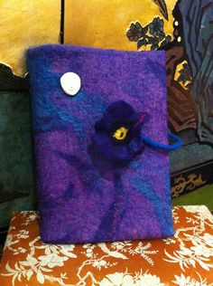 OOAK Pansy and the Muse Visual Arts Journal / by juliaheartfelt, $49.00