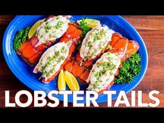 The ONLY Lobster Tails Recipe you'll need! Broiled lobster tails are juicy, flavorful, and quick to make! + How-To butterfly lobster tails photo tutorial! Baked Lobster Tails, Broiled Lobster Tails Recipe, Broil Lobster Tail, Grilled Lobster, Lobster Meat, Best Seafood Recipes, Lobster Recipes, Fish Recipes, Arroz Frito