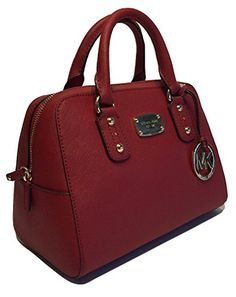 Women's Top-Handle Handbags - Michael Kors Small Satchel Red Saffiano Leather ** Check out the image by visiting the link.