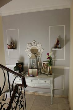 Parede redecorada em cinza e branco - Sugar, spice and everything nice...