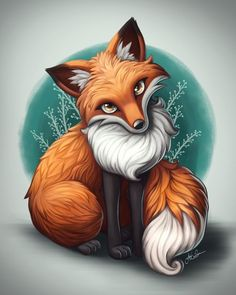 Beautiful artwork of a red fox Cute Animal Drawings, Cute Drawings, Cartoon Fox Drawing, Cute Fox Drawing, Drawing Cartoons, Cartoon Cartoon, Fox Tattoo, Fox Art, Red Fox