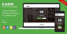 ThemeForest - Personal vCard Template - Kabir  Free Download