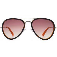 HOOK LDN - Supersonic Tortoiseshell on Orange Sunglasses (195 CAD) ❤ liked on Polyvore featuring accessories, eyewear, sunglasses, orange lens glasses, orange sunglasses, brown gradient sunglasses, tortoise sunglasses and orange glasses