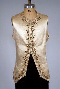 Embroidered Silk Satin Waistcoat, 1770-1800 - Lot 252 $862.50 ...Tasha Tudor collection
