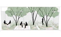 Landscape Plane, Landscape Concept, Landscape Drawings, Urban Landscape, Landscape Design, Plan Concept Architecture, Architecture Images, Architecture Portfolio, Landscape Architecture