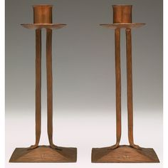 Roycroft candlesticks.