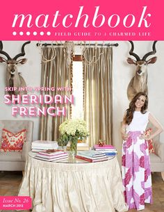 Sheridan French on the cover of Matchbook Magazine (March Issue). Less Biff and Muffy, more Mason and Caroline, but equally fabulous.