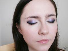 metallic purple makeup
