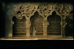 The Magic Flute. Model. National Arts Centre Opera. Scenic design by Peter Rice. 1975
