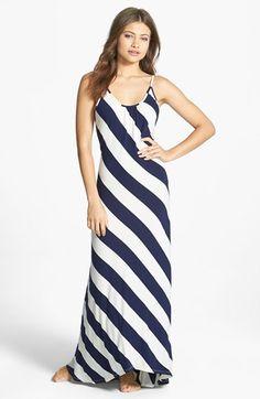 Elan Stripe Cover-Up Maxi Dress | Nordstrom