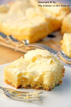 """Neiman Marcus cake. """"Has a vanilla cake bottom and a sweet crunchy creamy cheese topping.."""
