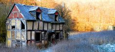 The village of Mordiford, in Herefordshire UK. Photo by Les Haines. Derelict House, Derelict Buildings, English Knights, Dragon House, Old Abandoned Houses, Uk Holidays, Herefordshire, See Images, Fantasy Inspiration