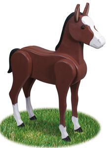 3D Life-Size Colt Woodcrafting Pattern Now you don't have to live in the country to have your own horse! #diy #woodcraftpatterns