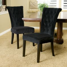 The style and sophistication of the Paulina rolled backrest contemporary dining chair will bring your dining room design into uncharted territory. The sturdy construction and soft material will have y