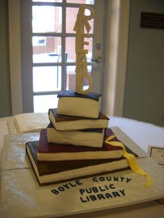 A great way to celebrate a library. Looks good!