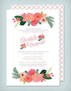 DIY Printable Wedding Invitation Botanical  4 by LadyBPaperie, $95.00