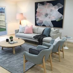 Amazing new goodies are flowing through the doors this week! @mrd_home you've outdone yourselves with these babies! Super stylish armchairs we've fallen in love with. @antoinetteferwerda your new large scale painting is just stunning  #kmodeinteriors #stylists #interiors #spring #houses #homes #ontrend #propertystyling #realestate