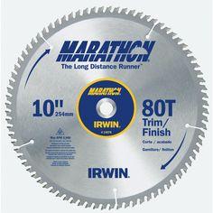 """Irwin Marathon 14076 10"""" 80T Marathon Miter & Table Saw Blades"""
