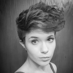 A recent cut of mine.  Asymmetrical pixie with shaved sides.