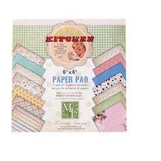 Kitschy Kitchen paper pad from Panduro Hobby- a Danish craft shop.
