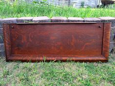 "Antique Wood Tiger Oak Upright Piano Door Panel Salvage 51x19"" with knobs by Holliezhobbiez on Etsy"