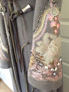 Охота за красотой: пальто с декоративной вышивкой и интересными вариантами отделки - Ярмарка Мастеров - ручная работа, handmade