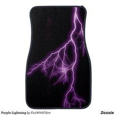 Purple Lightning Car Floor Mat