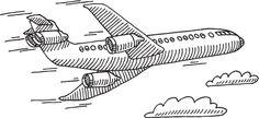 Airplane Sky Travel Drawing Plus