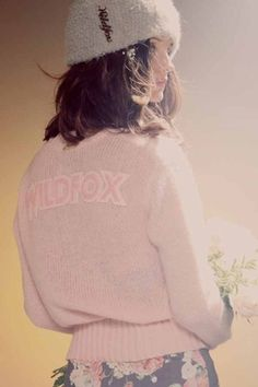 Wildfox Couture Ballet High Waist Cardigan in Rose Bud