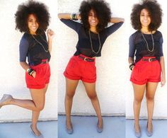 Devin // Natural Hair Style Icon...putting this under hair but I really love the outfit too for spring/summer