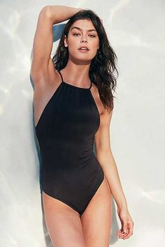 Out From Under High Neck One-Piece Swimsuit - Urban Outfitters