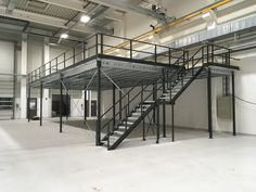 Rv Garage, Warehouse Design, Factory Design, Steel Structure, Dream Vacations, Man Cave, Stairs, Loft, Construction