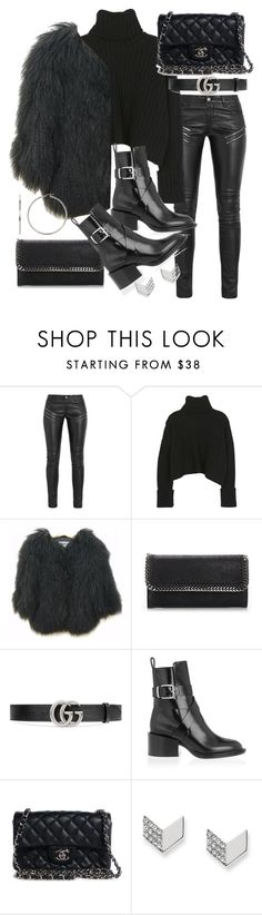 """Untitled #20794"" by florencia95 ❤ liked on Polyvore featuring Yves Saint Laurent, STELLA McCARTNEY, Gucci, Jil Sander, Chanel and FOSSIL"