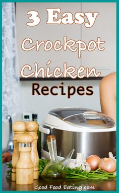 Always great to have some slow cooker recipes on hand so check out these 3 easy crockpot chicken recipes. Always great to have some slow cooker recipes on hand so check out these 3 easy crockpot chicken recipes. Easy Crockpot Chicken, Healthy Crockpot Recipes, Slow Cooker Recipes, Chicken Recipes, Crockpot Meals, Wine Recipes, Food Network Recipes, Real Food Recipes, Nutritious Meals
