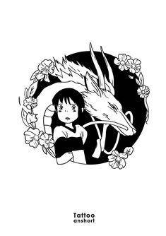 Pour réserver ou passer une commande : tattooanshort@gmail.com #tattooanshort #anshort #tatouage #flash #flashtattoo #art #tattooartist Studio Ghibli Tattoo, Studio Ghibli Art, Tattoo Sketches, Art Sketches, Art Drawings, Arte Sketchbook, Anime Tattoos, Flash Art, Cute Tattoos
