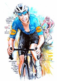 Joao Almeida, Deceuninck Quick Step, wird nach 21 Etappen 6. des 104. Giro d'Italia 2021 (100x70cm) Cycling Art, Bike, Sports, Movies, Movie Posters, Italia, Cycling, Road Cycling, Bicycle