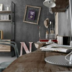Awesome Urban Industrial Decor plans To Nail Your Urban Loft French Industrial Decor, Industrial Cafe, Industrial Restaurant, Industrial Flooring, Industrial Apartment, Urban Industrial, Industrial Bedroom, Industrial Interiors, Industrial Furniture