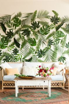 tropical backdrop