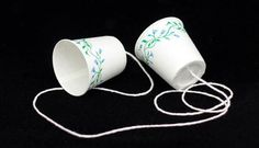 Homemade walkie talkies - activity for Day 2 preschool