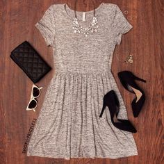 Fall Style: Shop Priceless Reese Dress - Gray